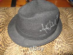 Michael Jackson Signed/autograph Fedora-rare! -signature-loa