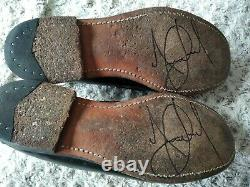 Michael Jackson' Stage Worn Sebago Shoes Signed Owned No Fedora +full Letters