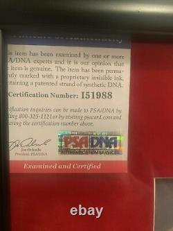 Michael Jackson Thriller Autographed PSA/DNA framed 11x14