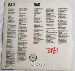 Michael Jackson VERY RARE BAD PROMO 12 LP (BRAZIL) SINGLE smile award signed cd