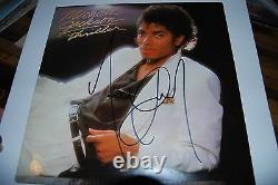 Michael Jackson signed Thriller LP in person Autographed Boldly