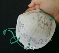 Michael Jackson signed & Worn Surgical mask