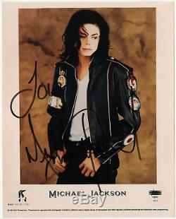 Michael Jackson signed autographed 8x10 photo! RARE! King of Pop! Epperson