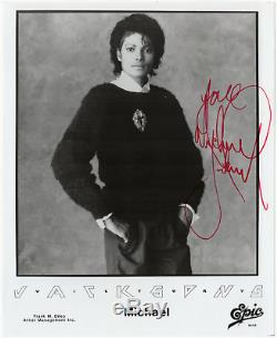 Michael Jackson signed autographed 8x10 photo! RARE! King of Pop! JSA LOA
