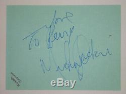 Michael Jackson signed vintage autograph page Roger Epperson QO