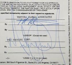 Michael Jackson twice signed lease agreement! Comes with proof/ papers Julians