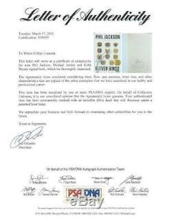 Michael Jordan Kobe Bryant Phil Jackson Signed Eleven Rings Book PSA/DNA & UDA