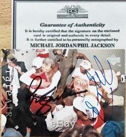 Michael Jordan /Phil Jackson 1994 UD Auto Autograph Signed Card with COA
