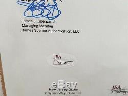 Michael jackson BAD signed invitation with signature award with COA! SMILE