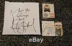Michael jackson signed autograph