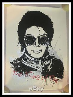 Mr Brainwash Michael Jackson King Of Pop S/n Screen Print Mbw Sold Out & Rare