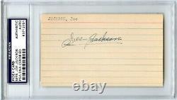 Mrs Joe Jackson Signed Joe Jackson Index Card Psa/dna Certified & Encapsulated