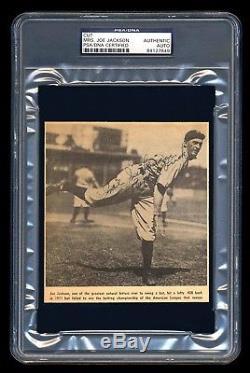 Mrs Shoeless Joe Jackson Signed Cut Psa/dna Slabbed 1919 Black Sox Autographed