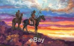 Native American Mustang Jackson Hole SOUTH WESTERN ART Original Oil painting
