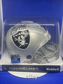 Nfl Oakland Raider Bo Jackson Signed autographed Mini Football Helmet With Coa