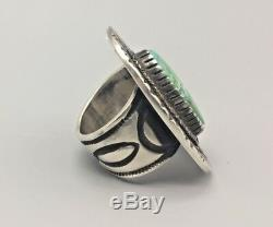 Nice, Turquoise & Sterling Silver Ring by Tommy Jackson, Navajo Signed