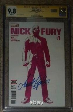 Nick Fury #1 CGC 9.8 SS Signed by Samuel L Jackson