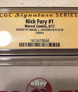 Nick Fury #1 CGC 9.8 SS Signed by Samuel L Jackson Avengers
