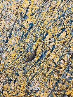 ORIGINAL Large Abstract Painting Acrylic Splatter Painting Jackson Pollock