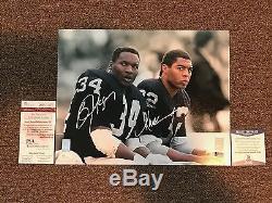 Oakland Raiders Marcus Allen & Bo Jackson Signed Combo 11x14 w JSA/Beckett COA