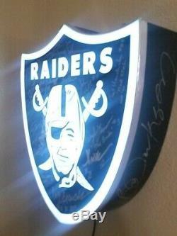 Oakland Raiders Signed Light Ken Stabler Bo Jackson Marcus Allen Auto 1/1