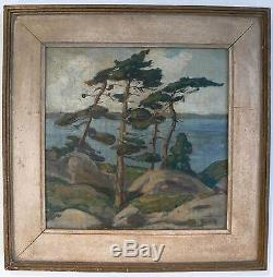 Original 1920 Group of Seven A Y Jackson Oil Painting Jack Pines Signed Painting