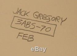 Original 1970 op art painting Jack/Jackson Gregory (b. 1938) 26x26 geometric