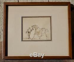 Original Signed Framed Painting of Jockey & RaceHorse by Lee Jackson Listed NY