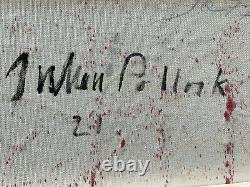 Original vintage rare paint on canvas! Hand signed JACKSON POLLOCK