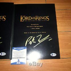 PETER JACKSON SIGNED LORD OF THE RINGS TRILOGY MOVIE SCRIPTS LOT OF 3 with COA