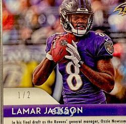 PSA 10 Lamar Jackson 2018 Prizm Gold Vinyl SSP #d 1/2 RC Auto Autograph Pop 1