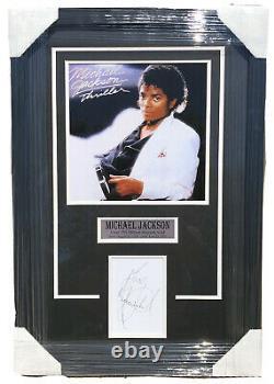 PSA/DNA Thriller MICHAEL JACKSON Signed Autographed FRAMED Record Album Cut Auto
