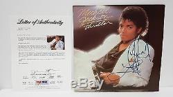 PSA LETTER Autographed Album MICHAEL JACKSON THRILLER LOVE