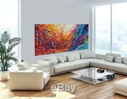 Painting Acrylic 72 Jackson Pollock style, Abstract Art on canvas Drip Art