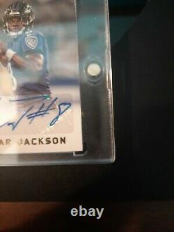 Panini Lamar Jackson 2018 Plates And Patches Rookie Patch Auto RPA #33/99