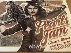Pearl Jam poster Wrigley Field. Vedder PJ print. Paul Jackson signed VARIANT