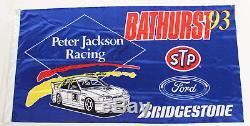 Peter Jackson Racing Flag 1993 Bathurst Signed Allan Jones Ford Falcon EB