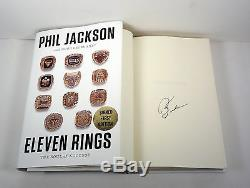 Phil Jackson Chicago Bulls Signed Autograph Eleven Rings 1st/1st HC Book COA