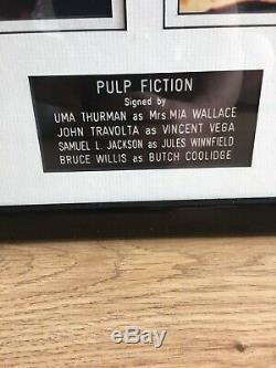 Pulp Fiction Cast Signed 8 X 10 Thurman Travolta Jackson Willis UACC COA