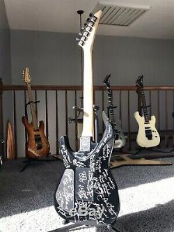 RARE Friday 13th Movie Jason Voorhees Jackson Guitar Graphic Signed Autographed