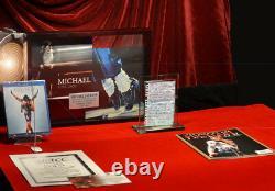 RARE Signed MICHAEL JACKSON Autograph LETTER, Global #GV550025, COA, UACC, DVD