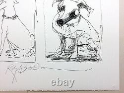 Ralph Steadman Jackson Dog Signed Limited Edition Print #35 0f 60