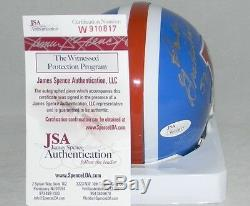 Randy Gradishar Tom Jackson Signed Denver Broncos Orange Crush Mini Helmet Jsa