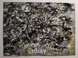 Rare Jackson Pollock Painting Framed