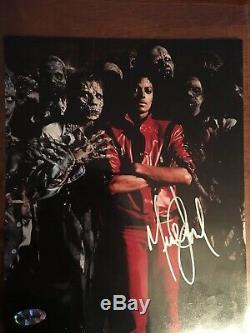 Rare Michael Jackson autographed 8 x10 photograph. Thriller Picture COA