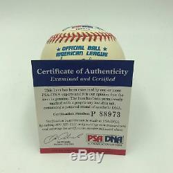 Rare Reggie Reginald Martinez Jackson Full Name Signed AL Baseball PSA DNA COA