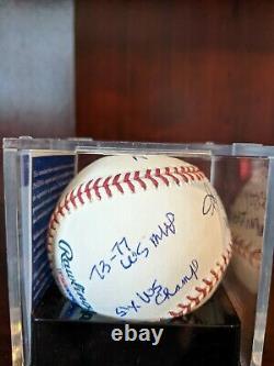 Reggie Jackson 7 Stat Signed Autographed OML Baseball PSA/DNA Grade 9 NY Yankees