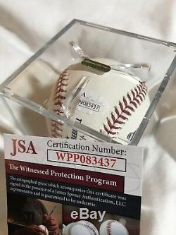 Reggie Jackson Autographed MLB Baseball Withinscript HOF 93 JSA Aunthenticity