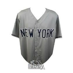 Reggie Jackson Autographed New York Yankees Custom Gray Baseball Jersey JSA COA