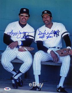 Reggie Jackson & Dave Winfield DUAL SIGNED 11x14 Photo + HOF Yankees ITP PSA/DNA
